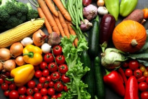 Fresh vegetables background – harvest concept